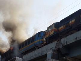 'ધ બર્નિંગ ટ્રેન', અમદાવાદથી મુંબઈ જતી ટ્રેન આગમાં લપેટાઈ, પુલ પર જ અપાયુ સ્ટોપેજ