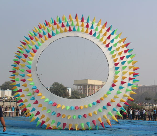 7-kite with nude iamge fly in international kite festival 2017 held in vadodara