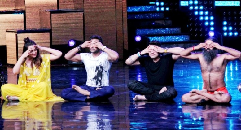 8-baba ramdevs class of yoga in nach baliye