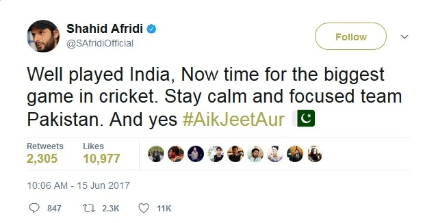 5-india vs pakistan virendra sehwag tweet champions trophy for final and semifinal