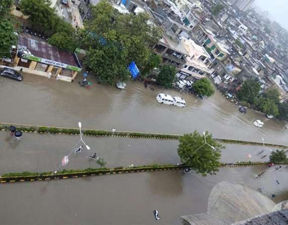 1-Gujarat floods Ahmedabad gets 200 mm rain in last 24 hours, normal life paralysed