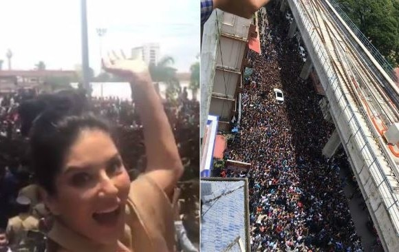 0-bollywood actress sunny leone takes kochi by storm huge fans video goes viral