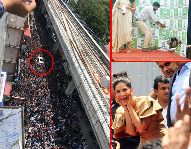1-bollywood actress sunny leone takes kochi by storm huge fans video goes viral