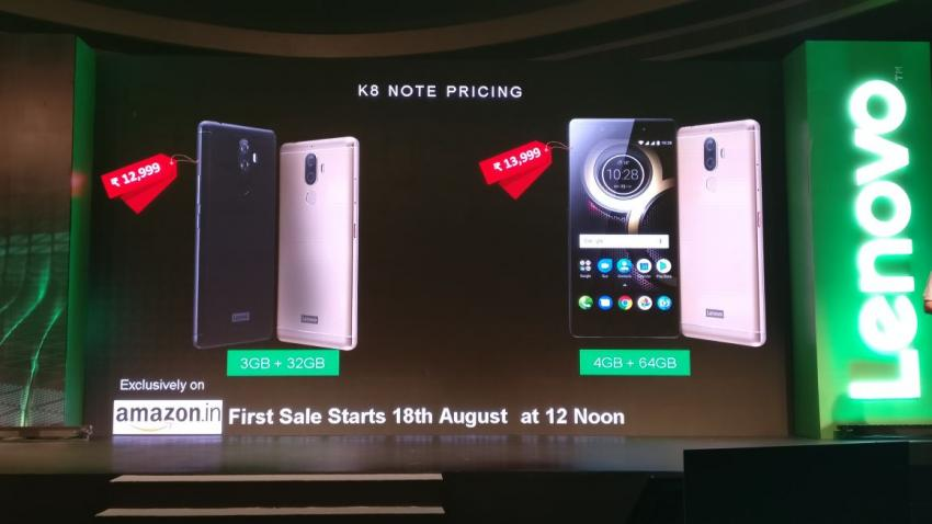 3-lenovo launches k8 note in india