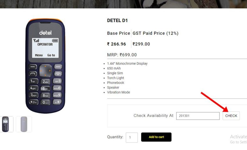 2-299 rupees mobile how to buy detel d1 feature phone online cash on delivery