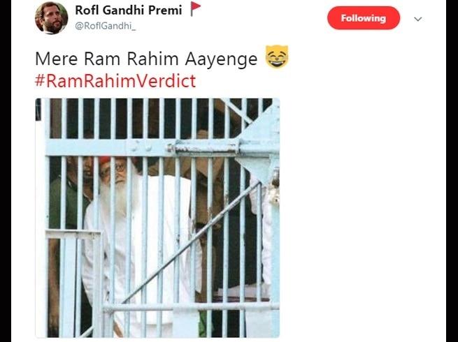 11-twitter trolls gurmeet ram rahim after he gets 20 years jail term