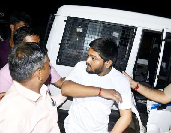 1-Patidar leader Hardik Patel, aide detained in 'assault' case, police get 3 day remand