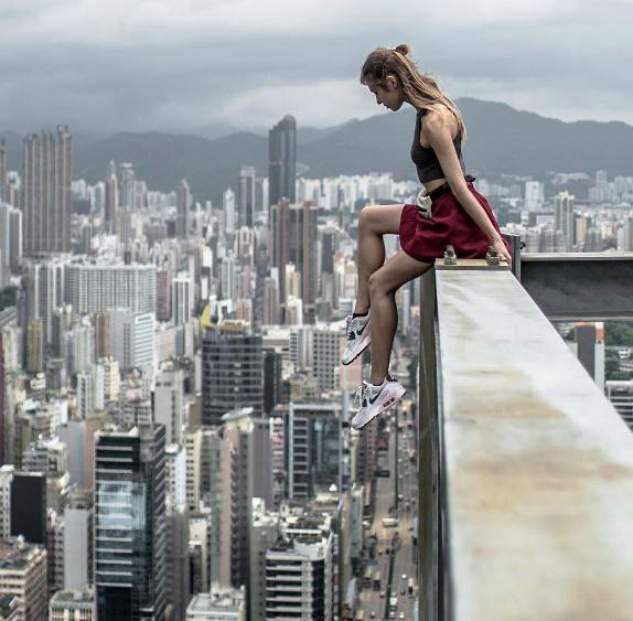 1-worlds riskiest selfie taker angela nikolau scales new heights