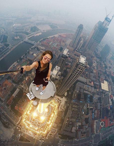 5-worlds riskiest selfie taker angela nikolau scales new heights