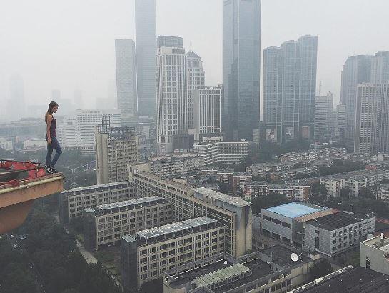 7-worlds riskiest selfie taker angela nikolau scales new heights