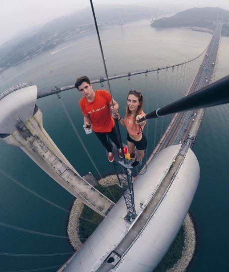 10-worlds riskiest selfie taker angela nikolau scales new heights