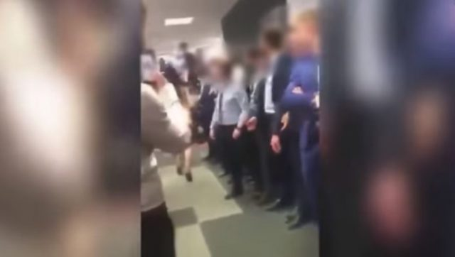 3-a woman paraded naked in front of her colleagues to boost morale of employees