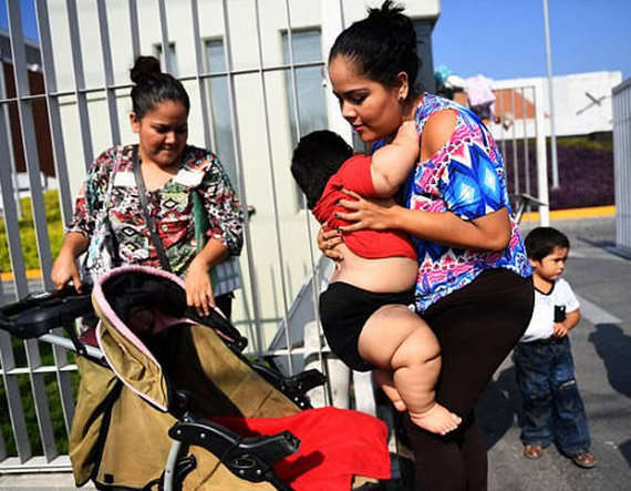 8-Overweight Mexican 10-month-old baby Luis Gonzales weighs 28kg