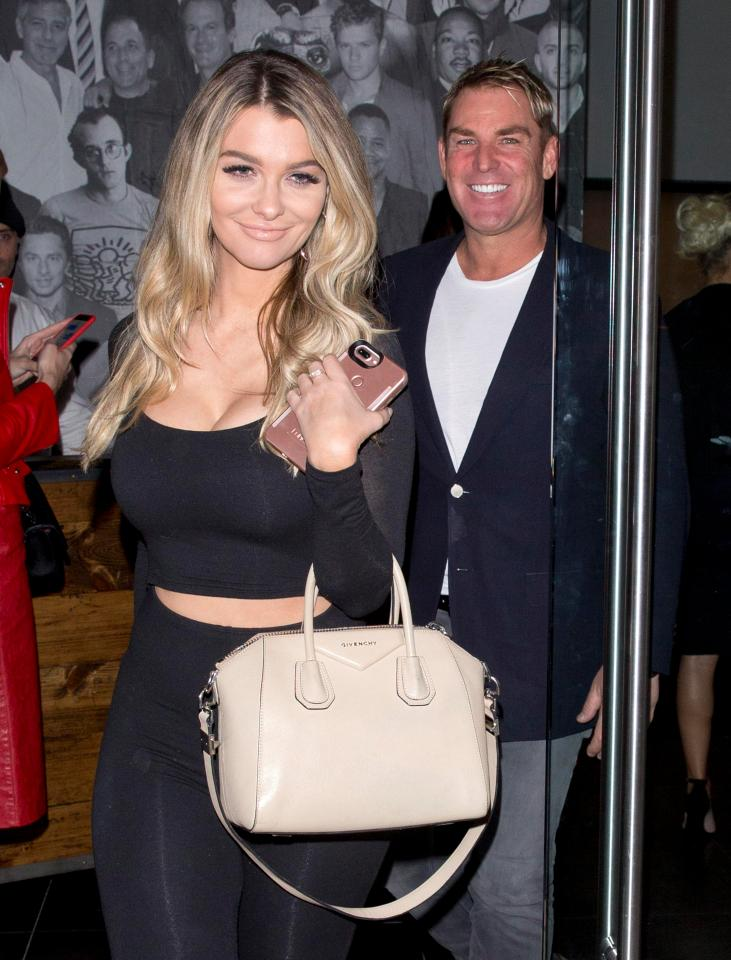 6-warne has reportedly been dating 32 year old emily sears two were first spotted in a restaurant in los angeles
