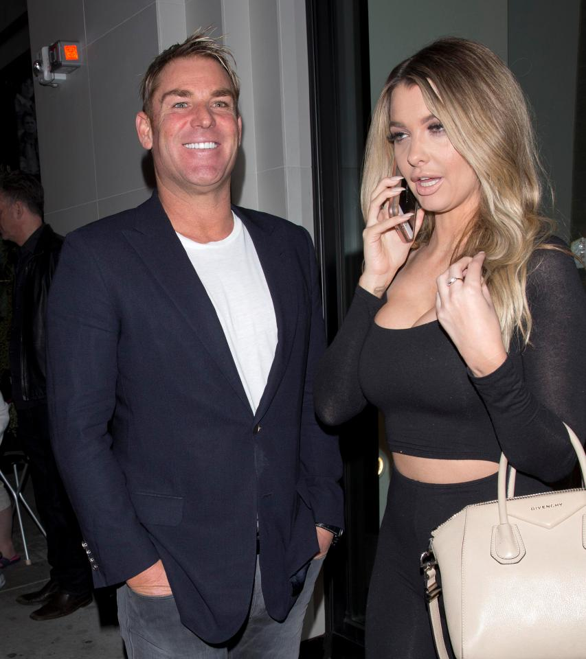 7-warne has reportedly been dating 32 year old emily sears two were first spotted in a restaurant in los angeles