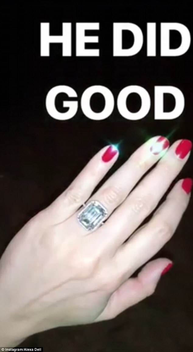 1-oddnews alexa dell got 3 million dollars engagement ring from fiance harrison refoua