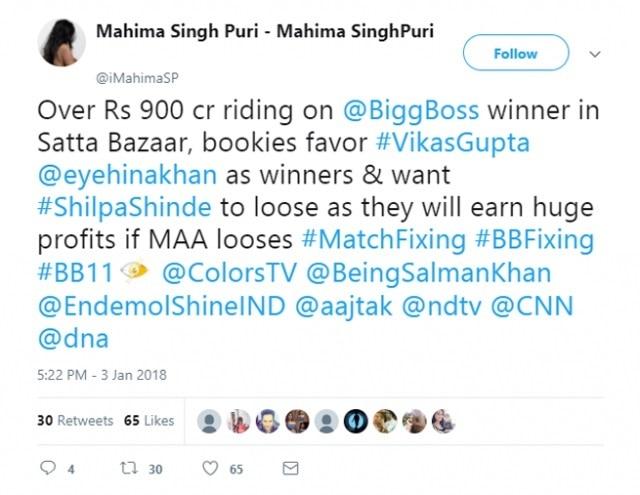 5-bigg boss 11 arshi khan satta market betting rates shilpa vikas hina