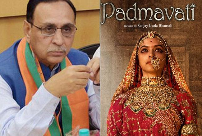 2-'Padmavati' will not release in gujarat says CM Vijay Rupani