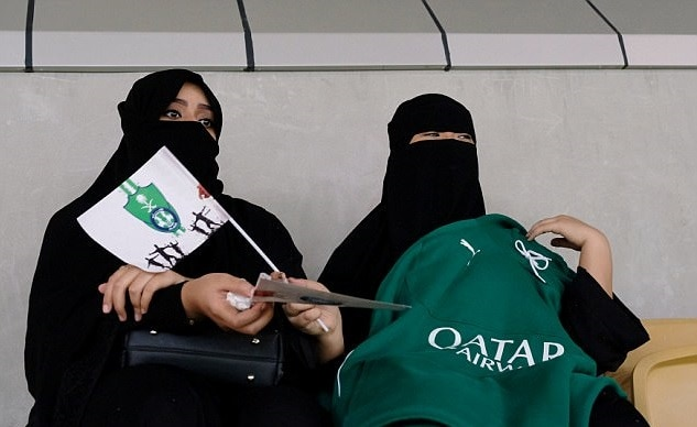 6-saudi women enter stadium for first time to watch soccer