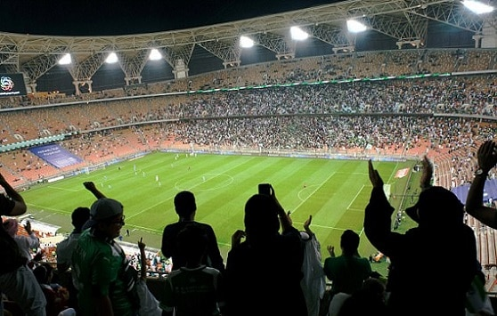 7-saudi women enter stadium for first time to watch soccer
