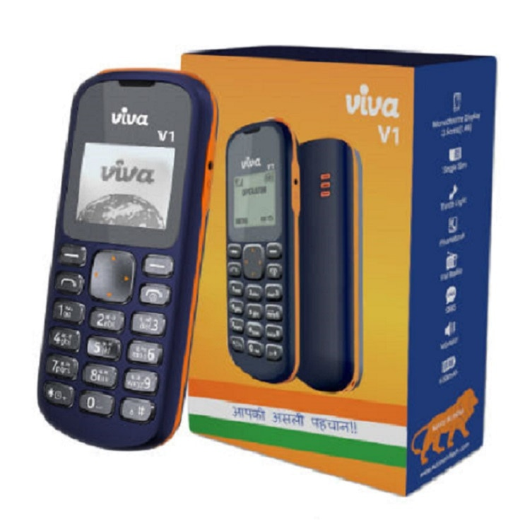 1-Viva V1 feature phone with 1.44-inch display launched in India at just Rs 349