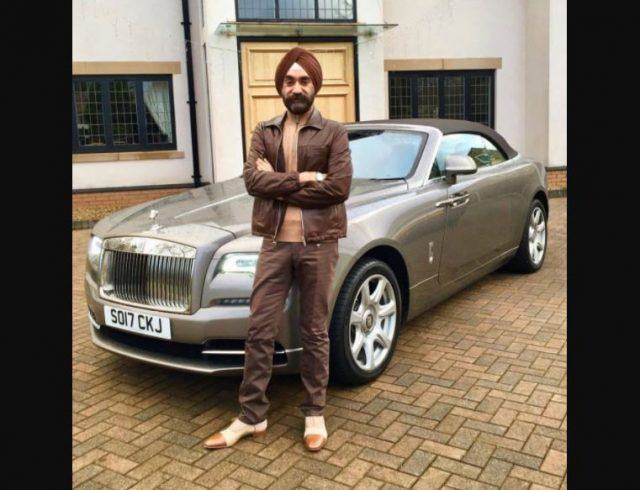 2-to win challange sikh billionaire ruben singh matches his turbans to his rolls royces