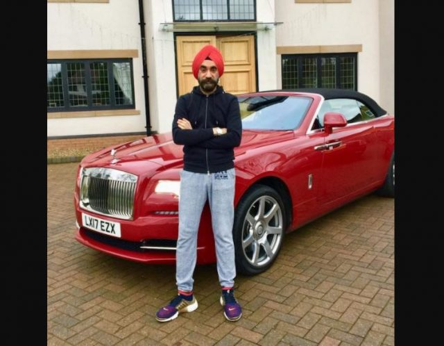 3-to win challange sikh billionaire ruben singh matches his turbans to his rolls royces