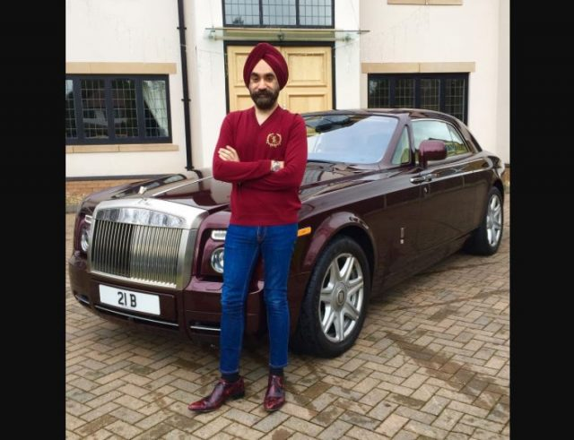 4-to win challange sikh billionaire ruben singh matches his turbans to his rolls royces