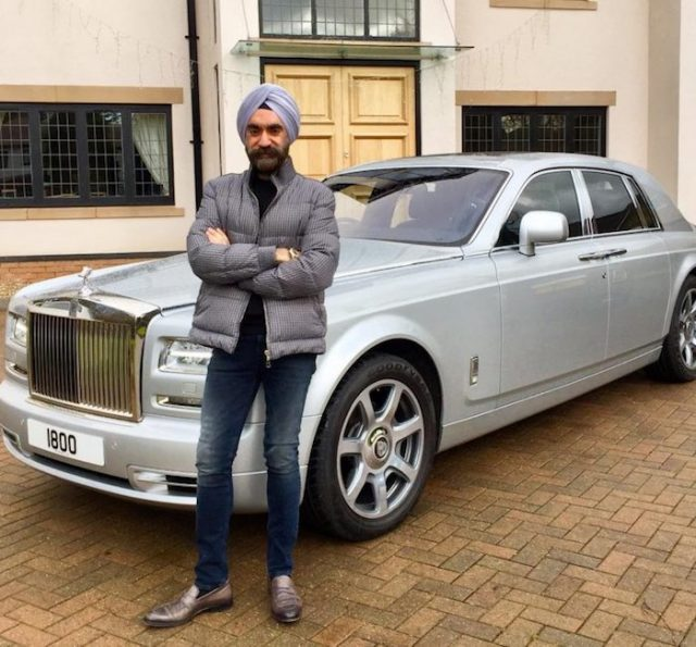 5-to win challange sikh billionaire ruben singh matches his turbans to his rolls royces
