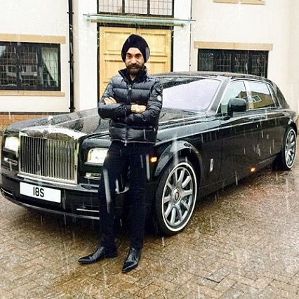 6-to win challange sikh billionaire ruben singh matches his turbans to his rolls royces