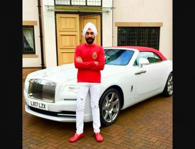 7-to win challange sikh billionaire ruben singh matches his turbans to his rolls royces