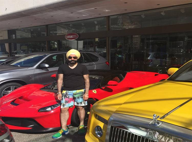 10-to win challange sikh billionaire ruben singh matches his turbans to his rolls royces