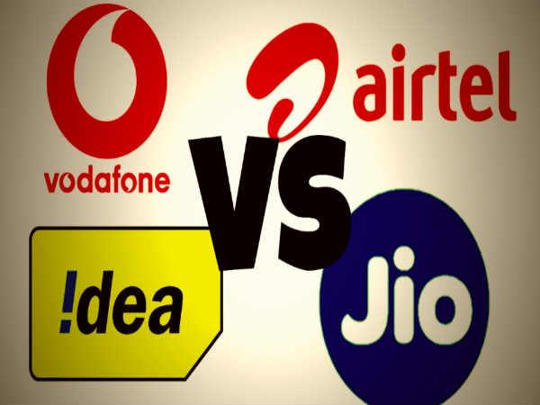 1-Vodafone, Airtel, Idea, Reliance Jio