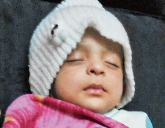1-son was brain dead as mother did not feed him for 1 year