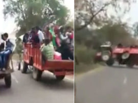 Tractor Accident In Moradabad, Watch LIVE Accident Video