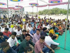 ગાંધીનગરઃ RNTCP કર્મચારીઓએ વિવિધ માંગણીઓ સાથે યોજી રેલી