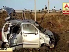 Una Family Car Accident Near junagadh, Family Return Pray At Mata No Madh