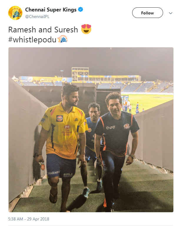 Image result for CSK sachin raina tweet