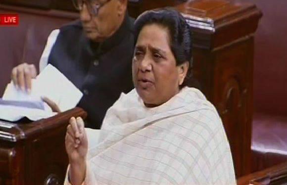 Rajya Sabha gets adjourned after uproar over Mayawati's comments