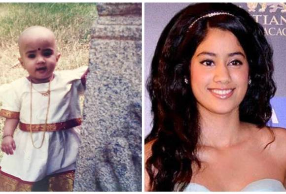 Sridevi shares daughter Jahnvi Kapoor's cute childhood pics on her birthday