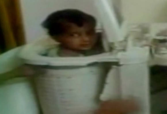 VIDEO: 2-year-old boy escapes unhurt after being stuck in washing machine
