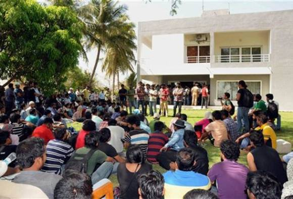 University of Hyderabad in lockdown; water, power off