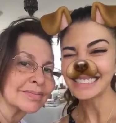 Jacqueline Fernandez celebrates Easter with mother