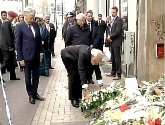 Brussels attack: PM Modi pays tribute at Maelbeek metro station