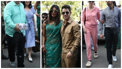 PICS: After Nickyanka; Madhu Chopra, Nick's parents, Joe-Sophie too snapped at Jodhpur Airport!