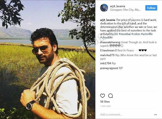 Mahakali' actor Arjit Lavania's last message few hours