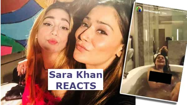 Sara Khan On Her Viral Nude Bathtub Video Posted By Sister