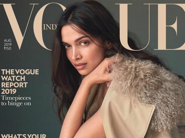 Deepika Padukone Stuns In No-Makeup Look On Vogue Magazine ...