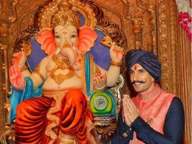 A Song released and dedicated to Ganpati Bappa by Ranveer Singh. Listen here: