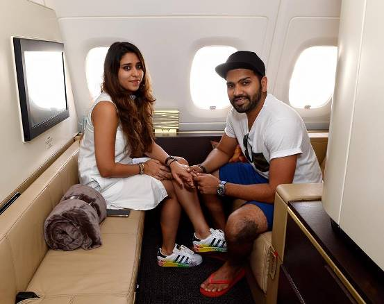 Image result for rohit sharma with wife honeymoon